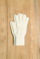 Merino Angora gloves - Natural