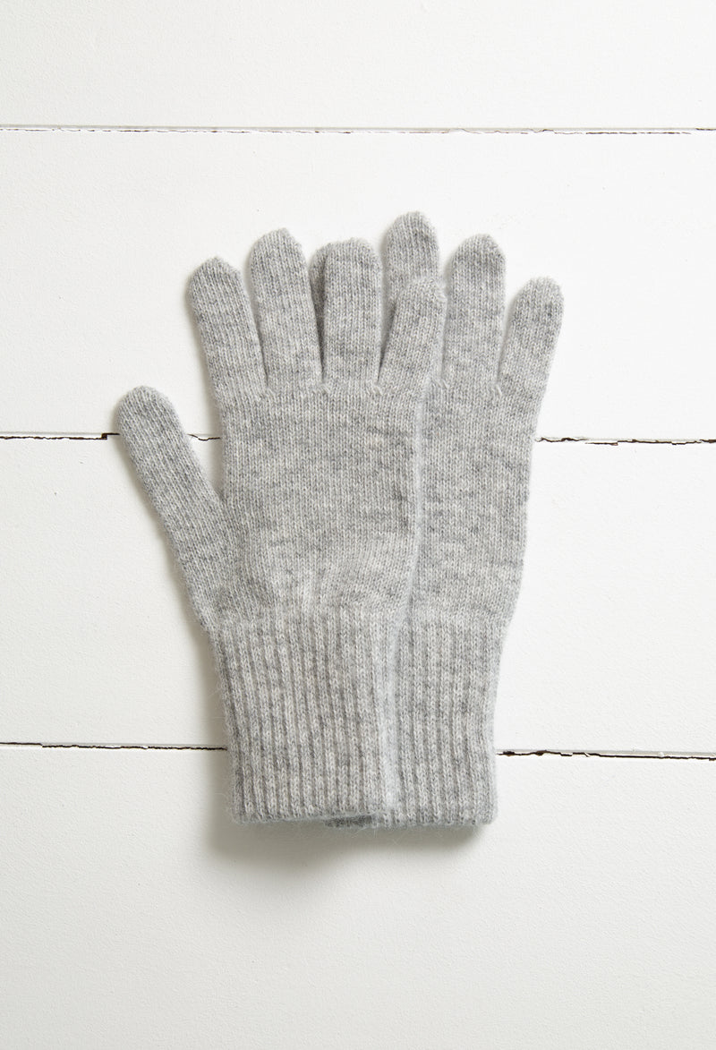 Merino Angora gloves - Dove