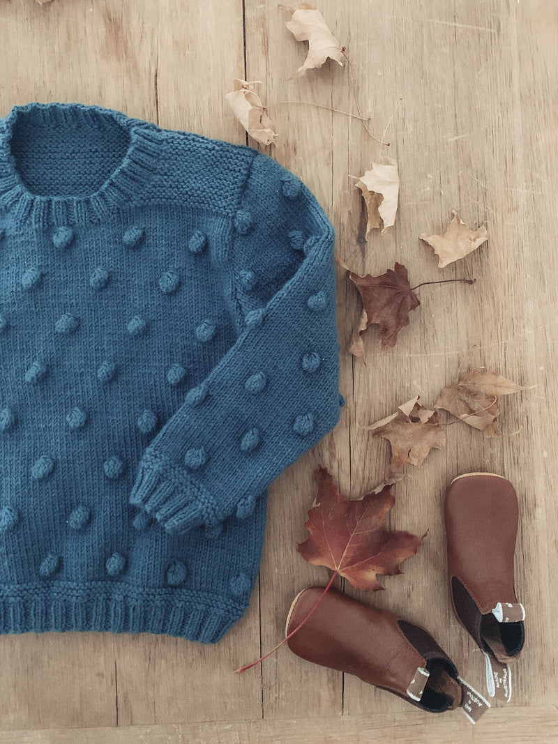 Popcorn Jersey Knitting Pattern (AGES 1-10 YEARS) - Digital PDF