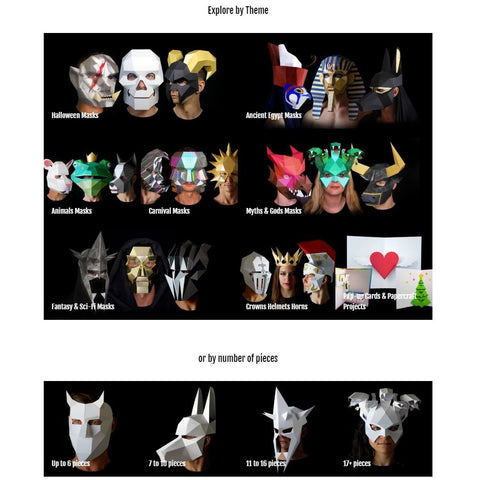 Papercraft masks template how to make a papercraft mask Ntanos