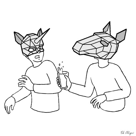 Papercraft mask paper masks animal mask polygonal Ntanos