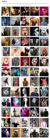 Papercrat masks Hallowenn masks animal masks paper masks Ntanos