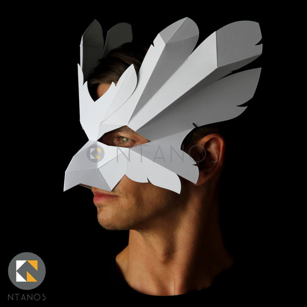 Low poly papercraft animal bird mask by Ntanos