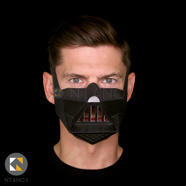 Star Wars Darth Vader Face Mask Paper Template Ntanos
