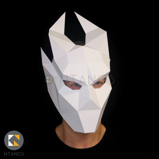 Halloween Ifrit demon papercraft mask template by Ntanos