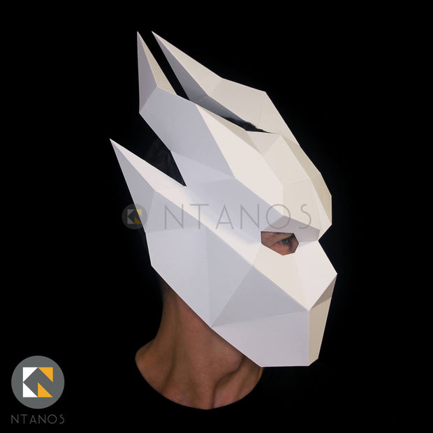 Halloween Ifrit demon paper craft mask template by Ntanos