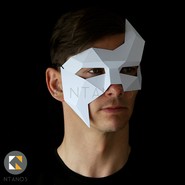 Geometric low poly papercraft Phantom paper mask by Ntanos