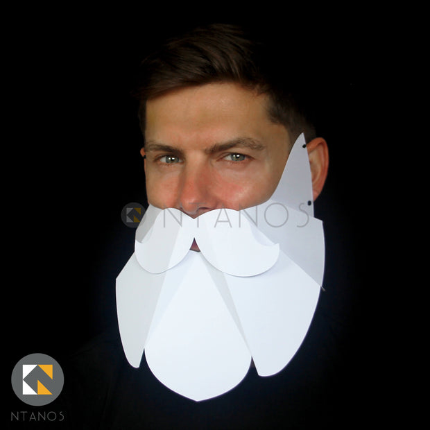 Christmas Santa paper beard by papercraft Ntanos