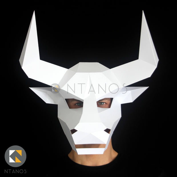 Minotaur papercraft Bull mask Ntanos Ancient Greek mythology