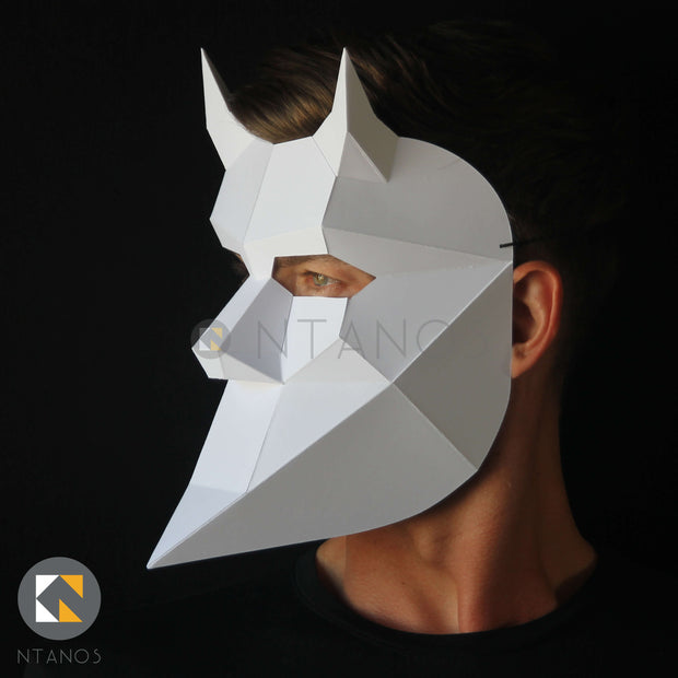 Nameless Ghoul Devil Papercraft Mask by Ntanos