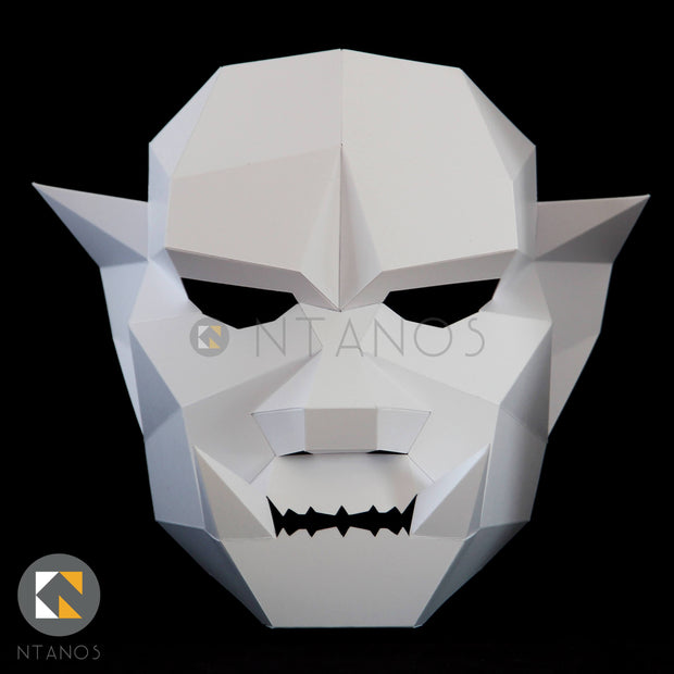 Halloween low poly Orc paper mask by Ntanos