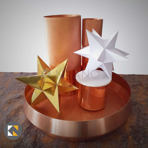 3D Star Christmas Decoration Papercraft Templates Ntanos