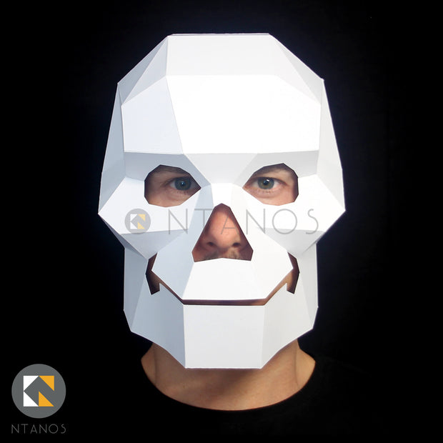 Skull Head paper Halloween mask by Ntanos