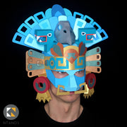 Aztec Headdress Mayan Mask Papercraft templates Ntanos