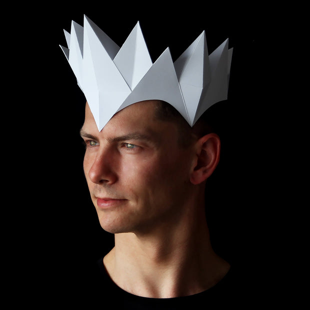 Papercraft crown headpiece and masks by Ntanos