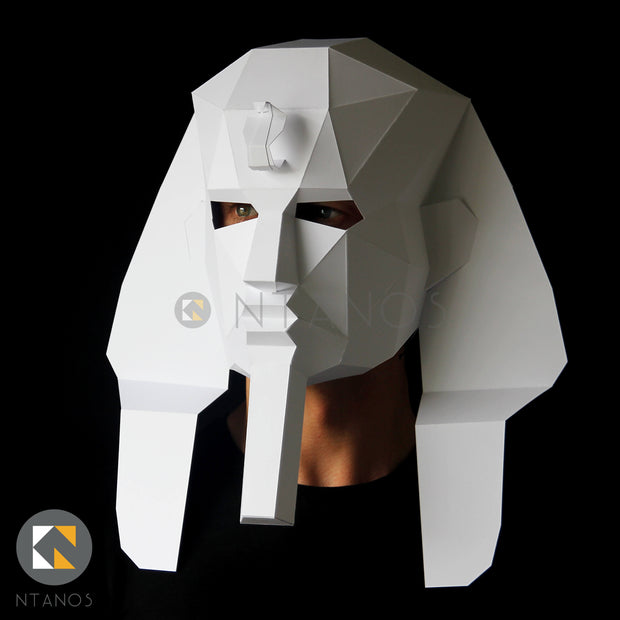 Geometric low poly papercraft Egyptian Pharaoh mask by Ntanos