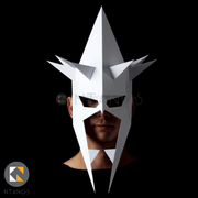 Geometric low poly papercraft Lord of the Rings Witch-King paper mask by Ntanos