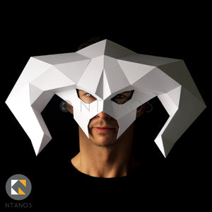Halloween papercraft mask Balrog from Lord of the Rings by Ntanos