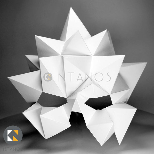 Geometric low poly papercraft mask Blast by Ntanos