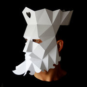 Geometric low poly papercraft mask King of Hearts by Ntanos