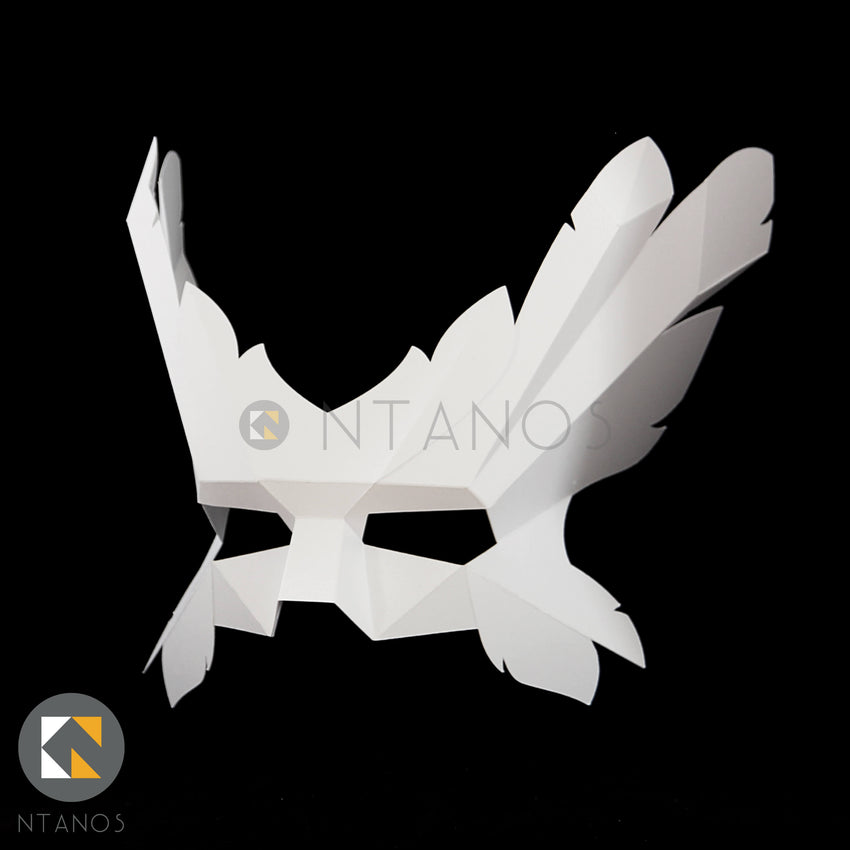 Geometric low poly papercraft Icarus paper mask by Ntanos