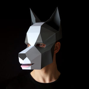 Papercraft Dog Mask by Ntanos