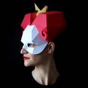 Low-poly Papercraft mask Queen of Hearts by Ntanos