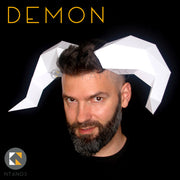 Paper Balrog demon horns for Halloween by Ntanos