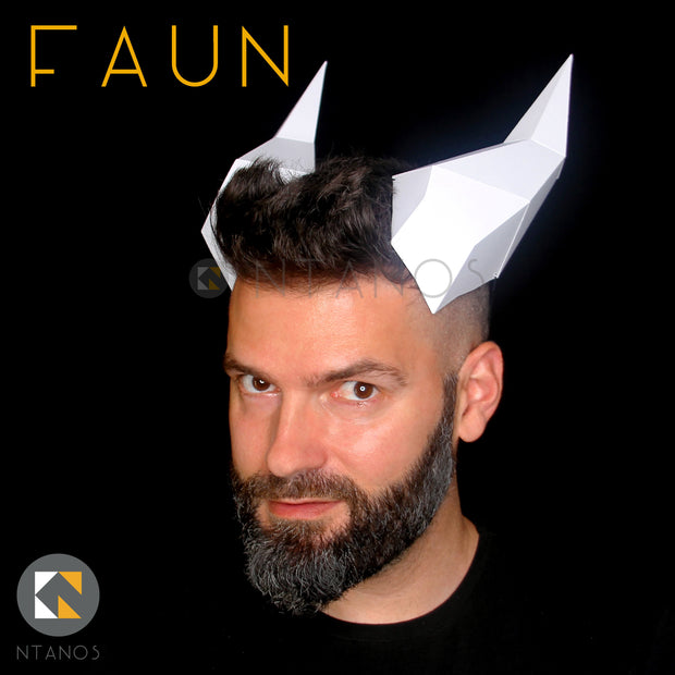 Paper faun horns for Halloween by Ntanos