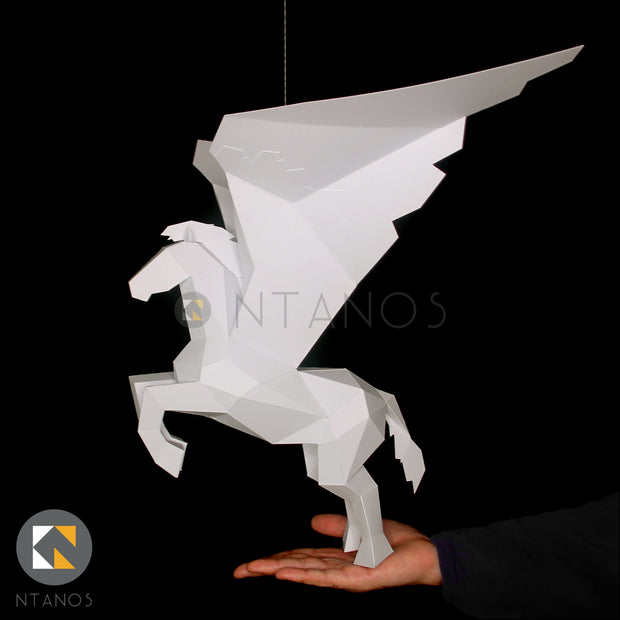 Pegasus 3D Paper sculpture decoration Papercraft Template Ntanos