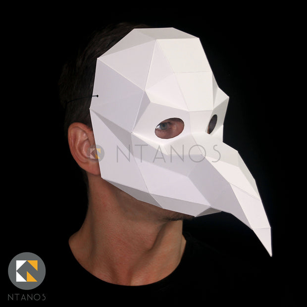 Papercraft Mask Template Plague Doctor Paper Mask Ntanos