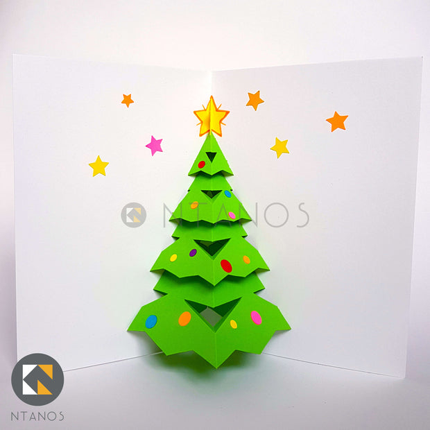 DIY Christmas Tree Greeting Pop-up card by Ntanos