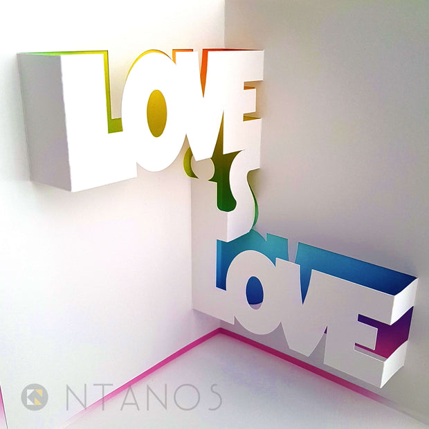 LGBT Pride pop up kirigami card papercraft Ntanos
