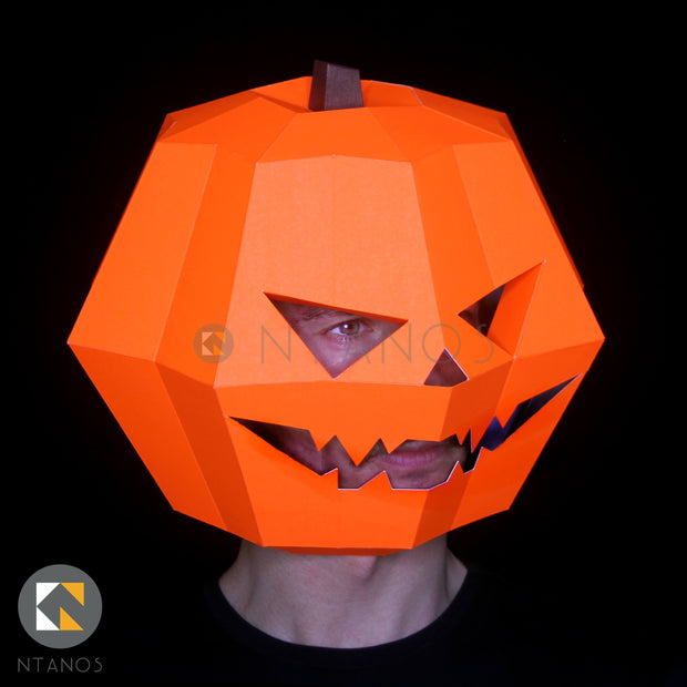 Halloween Pumpkin King Papercraft template mask by Ntanos