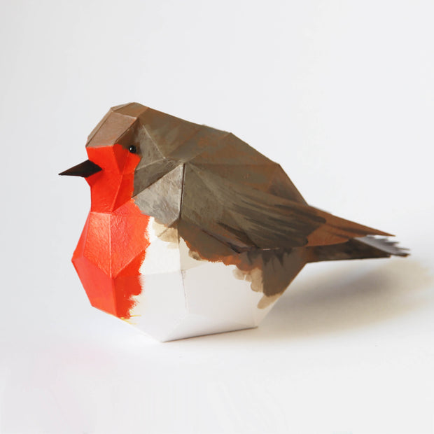 Christmas decoration papercraft Robin bird by Ntanos