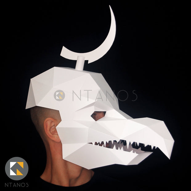 Dark Crystal Skeksis Halloween paper mask by Ntanos