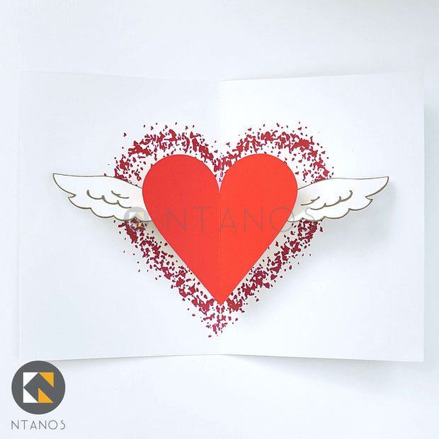 Winged Heart Pop-up Card