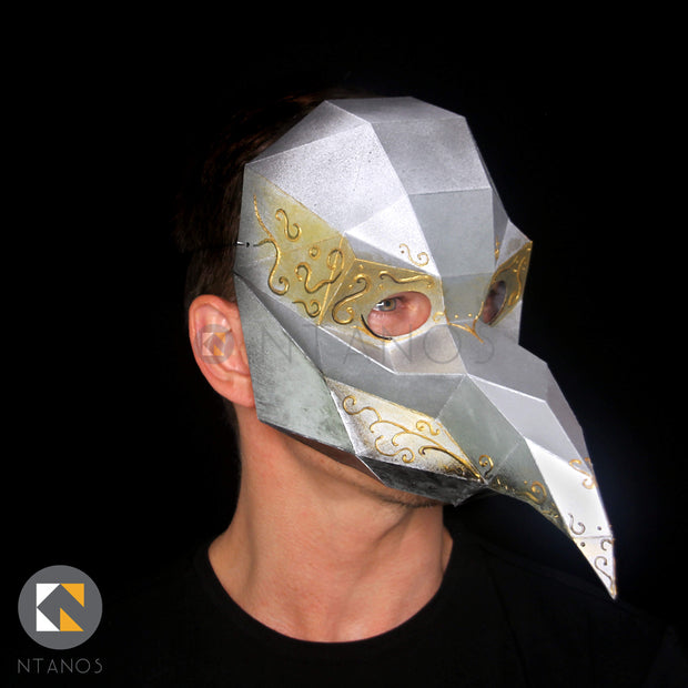 Papercraft Venetian Mask Template Plague Doctor Paper Mask Ntanos