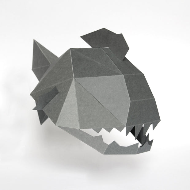 Low poly papercraft animal mask fish by Ntanos