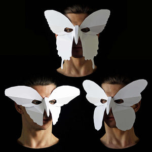 Geometric low poly papercraft butterfly mask by Ntanos