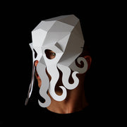 Geometric low poly papercraft Octopus animal paper mask by Ntanos