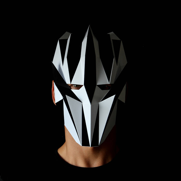 Geometric low poly papercraft mask Club Kid by Ntanos