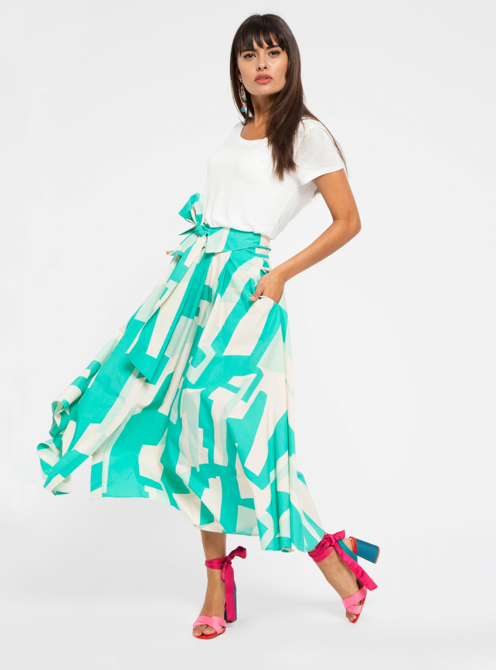 MAXI SKIRT WITH BELT