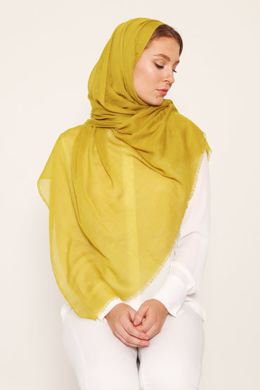 SILK COTTON HIJAB LIME GREEN - Store WF