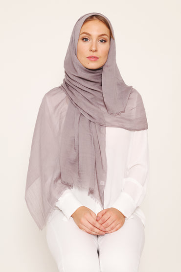 SILK COTTON HIJAB LILAC - Store WF