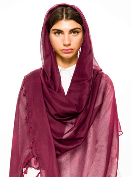 ROSEWOOD LARGE COTTON SCARF - Store WF