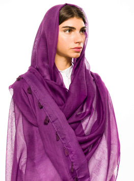 ORCHID LARGE COTTON SCARF - Store WF