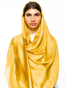 GOLDEN HONEY SHIMMERY VISCOSE SCARF