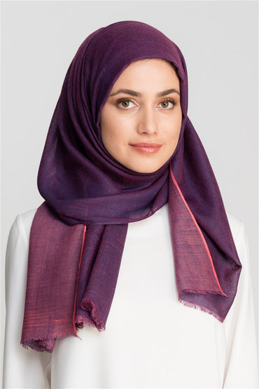 PURPLE MARL DOUBLE FACE VISCOSE SCARF - Store WF