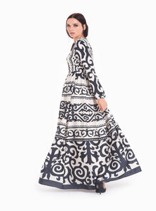 ce47f5954b400 Black Pattern ottoman Maxi Dress - Store WF